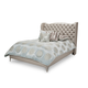 AICO Hollywood Loft Queen Upholstered Platform Bed in Frost