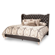 AICO Hollywood Loft King Upholstered Platform Bed in Ganache