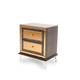 AICO Hollywood Loft Upholstered Nightstand in Ganache