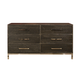 Ligna Brentwood 6 Drawer Dresser in Anthracite 9526 AN