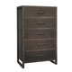 Ligna Brentwood 5 Drawer High Chest in Anthracite 9524 AN
