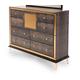 AICO Hollywood Loft Upholstered Dresser in Ganache 9001650-401