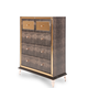 AICO Hollywood Loft Upholstered 5 Drawer Chest in Ganache 9001670-401