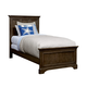 Stone & Leigh Chelsea Square Twin Panel Bed in Raisin 584-13-35