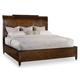 Hooker Furniture Skyline King Platform Sleigh Bed in Cathedral Cherry