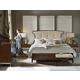 Hooker Furniture 4-Piece Skyline Upholstered Panel Bedroom Set in Cathedral Cherry