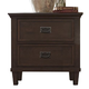 Liberty Berkley Heights Two Drawer Nightstand in Antique Washed Walnut 102-BR61