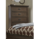 Liberty Berkley Heights Five Drawer Chest in Antique Washed Walnut 102-BR41