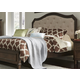 Liberty Berkley Heights Queen Upholstered Bed in Antique Washed Walnut