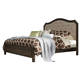 Liberty Berkley Heights King Upholstered Bed in Antique Washed Walnut