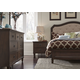 Liberty Berkley Heights 4-Piece Upholstered Bedroom Set in Antique Washed Walnut