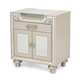 Aico Bel Air Park Upholstered Nightstand in Champagne 9002040-201