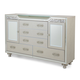 Aico Bel Air Park Upholstered Dresser in Champagne 9002050-201