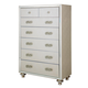 Aico Bel Air Park Upholstered 7 Drawer Chest in Champagne 9002070-201