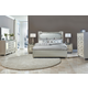 Aico Bel Air Park 4pc Upholstered Bedroom Set in Champagne