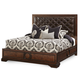Aico Bella Cera Queen Panel Bed with Leather Upholstered Headboard in Capri 38000QNPN2L-45