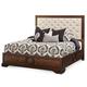 Aico Bella Cera Queen Panel Bed with Fabric Tufted Headboard in Capri 38000QNPN2-45