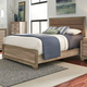 Liberty Sun Valley Queen Upholstered Panel Bed in Sandstone 439-BR-QUB