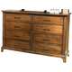Liberty Mill Creek Drawer Dresser in Rustic Cherry 458-BR31