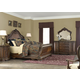 Aico Bella Veneto 4pc Sleigh Bed in Cognac