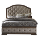 Liberty Amelia Queen Upholstered Panel Bed in Antique Toffee 487-BR-QUB