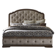 Liberty Amelia King Upholstered Panel Bed in Antique Toffee 487-BR-KUB