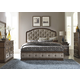 Liberty 4-Piece Amelia Upholstered Panel Bedroom Set in Antique Toffee
