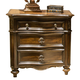 Liberty Chamberlain Court 3-Drawer Nightstand in Rich Auburn 491-BR61