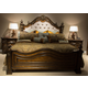 Liberty 4-Piece Chamberlain Court Upholstered Panel Bedroom Set in Rich Auburn