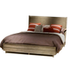 Liberty Miramar Queen Upholstered Platform Bed in Weathered Pine 514-BR-QPL