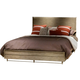 Liberty Miramar King Upholstered Platform Bed in Weathered Pine 514-BR-KPL