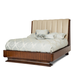 Aico Cloche Queen Channel Tufted Bed in Bourbon 10000QNT4-32