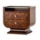 Aico Cloche 2 Drawer Nightstand in Bourbon 10040-32