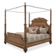 Aico Excursions Queen Poster Bed with Canopy Kit in Caramel Cashmere 9081000QN5-109