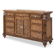 Aico Excursions 9 Drawer Dresser in Caramel Cashmere 9081050-109
