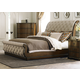Liberty Cotswold Queen Sleigh Bed in Cinnamon 545-BR-QSL