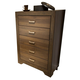 Liberty Taylor Court 5-Drawer Chest in Walnut 546-BR41