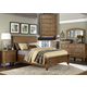 Liberty Southern Pines II 4 Piece Sleigh with Storage Bedroom Set in Vintage Light Pine