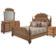 Aico Excursions 4pc Panel Bedroom Set in Caramel Cashmere