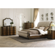 Liberty 4-Piece Cotswold Upholstered Sleigh Bedroom Set in Cinnamon