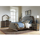Liberty Tuscan Valley 4-Piece Upholstered Bedroom Set in Weathered Oak