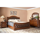 Fairfax Home Furnishings Orleans Sleigh Bedroom Set in Antique Brown