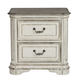 Liberty Magnolia Manor Two Drawer Nightstand in Antique White 244-BR61
