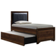 Liberty Taylor Court Twin Upholstered Bed in Walnut 546-BR-TUB