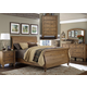 Liberty Southern Pines II 4 Piece Sleigh Bedroom Set in Vintage Light Pine
