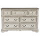 Liberty Magnolia Manor Seven Drawer Dresser in Antique White 244-BR31