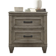 Liberty Grayton Grove 2-Drawer Nightstand in Driftwood 573-BR61