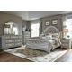 Liberty Magnolia Manor 4-Piece Upholstered Bedroom Set in Antique White EST SHIP TIME IS 4 WEEKS
