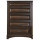Liberty Knollwood Five Drawer Chest in Dark Cognac 258-BR41