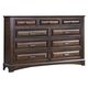 Liberty Knollwood Nine Drawer Dresser in Dark Cognac 258-BR31